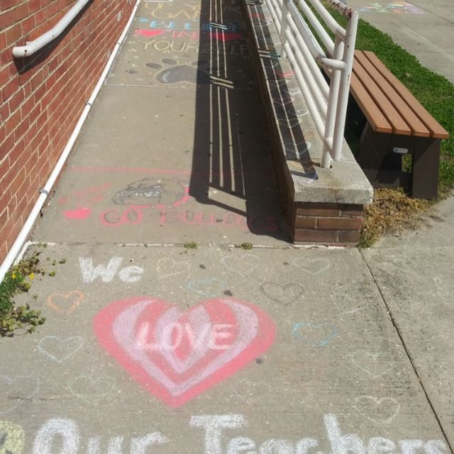GREYHAWK was hired by @newjerseysda to manage construction of roof and masonry repairs at Bridgeton High School.  Our CM captured these fun murals drawn by students this week.  #TeamGREYHAWK #BuildStrong #wearefamily #teamworkmakesthedreamwork