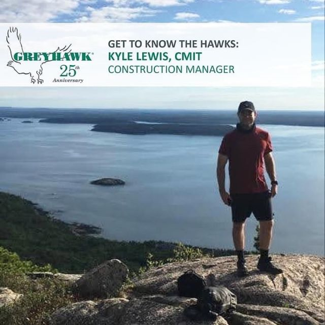 Happy 5th HAWKiversary to Construction Manager Kyle Lewis. #TeamGREYHAWK #25thanniversary #GettiknowtheHAWKs