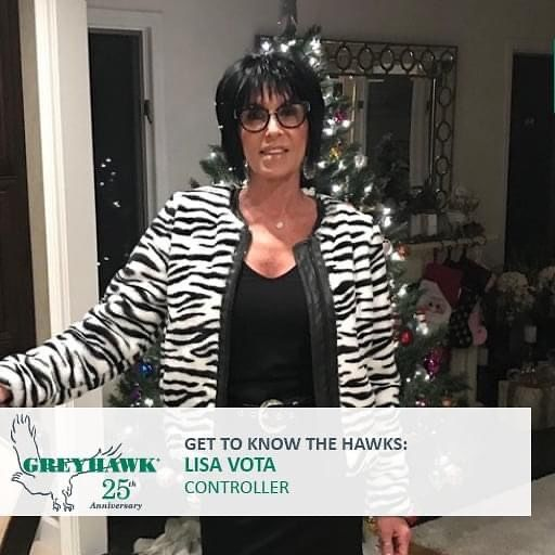 Happy 22nd HAWKiversary to Controllet Lisa Vota.  Thanks for all you do to support #TeamGREYHAWK. #GettoknowtheHAWKS #25thanniversary