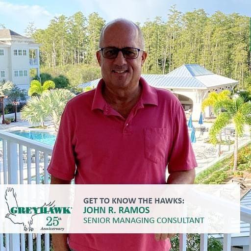 Happy 21st #HAWKiversary to Senior Managing  Consultant John Ramos. #TeamGREYHAWK #GettoknowtheHAWKS #25thanniversary