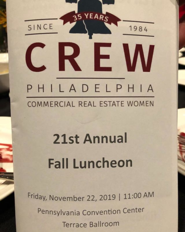 @ronaldkerins and @kathykostiuk attending another hugely successful #CREWPhilly Annual Fall Luncheon.  Congrats to all award recipients.
